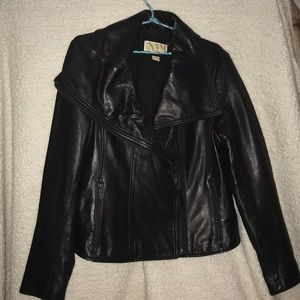 Michael by Michael Kors. Black leather jacket.